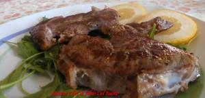 Carne di Vitello Marinata alle Spezie e  Arrostita su letto di Rucola