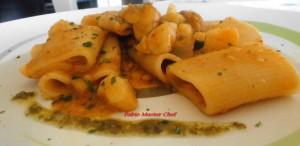Paccari con Patate e Pesto alla Genovese