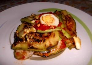 Parmigiana di Zucchine Grigliate con Scamorza Affumicata e Uova
