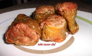 Peperoni Ripieni con Carne Tritata Mista e Scamorza Affumicata