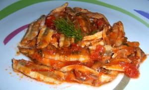 Alici Freschi alla Pizzaiola